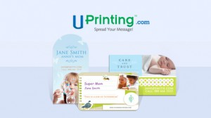 Giving Away Die-cut Business Cards from UPrinting.com