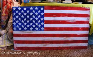 Rustic Painted American Flag Tutorial