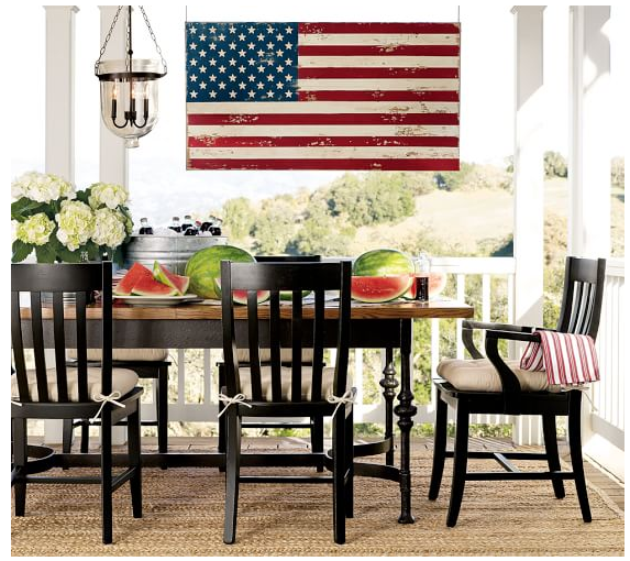 Pottery Barn Painted Flag