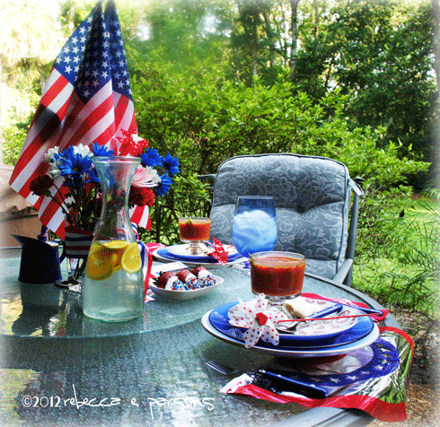 Red White & Blue 4th of July Table