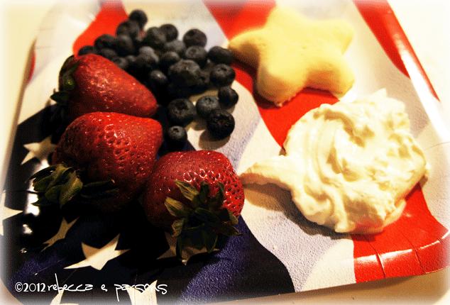 Red, White & Blueberry breakfast