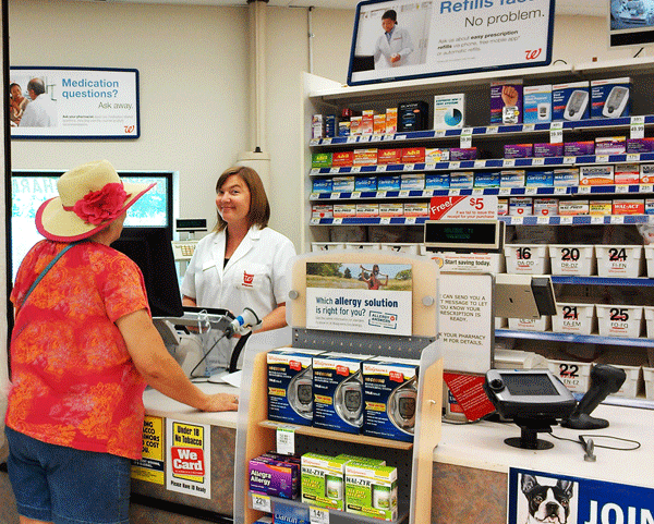 chatting w/pharmacist at counter #rxsavingsclub