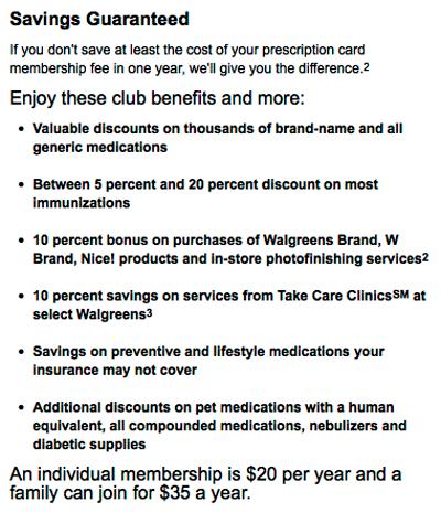 Walgreens Prescription Savings Club guarantee  #rxsavingsclub