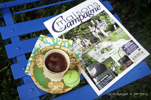 morning tea, macaron & maisons de Campagne mag