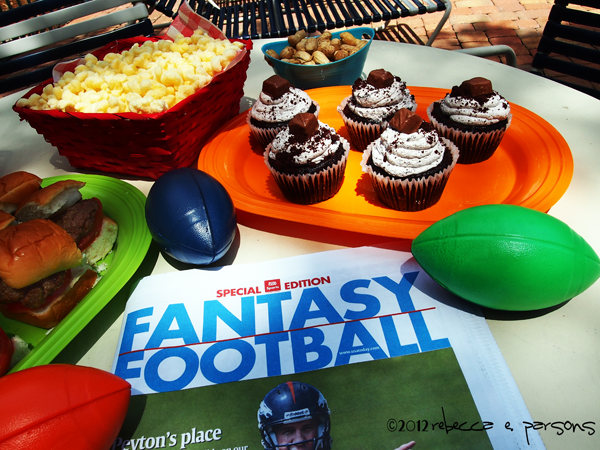 Fantasy Football Draft Party by the Pool with #SnickersMinis