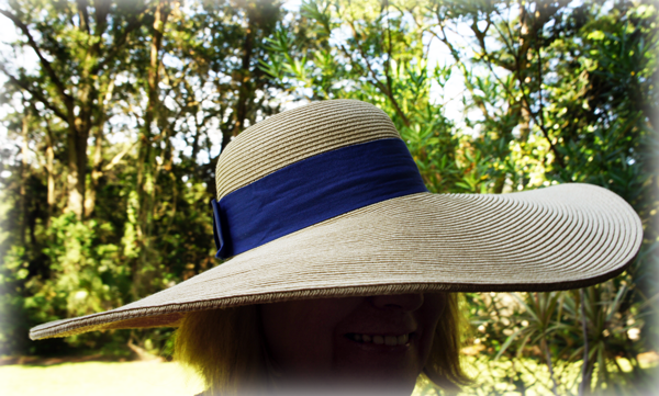 Rebecca E. Parsons in a BIG hat