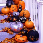 All You stenciled pumpkins