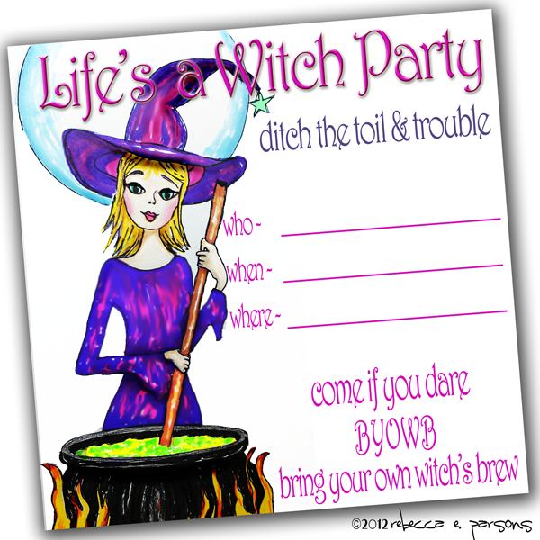 Life's a Witch Invitation