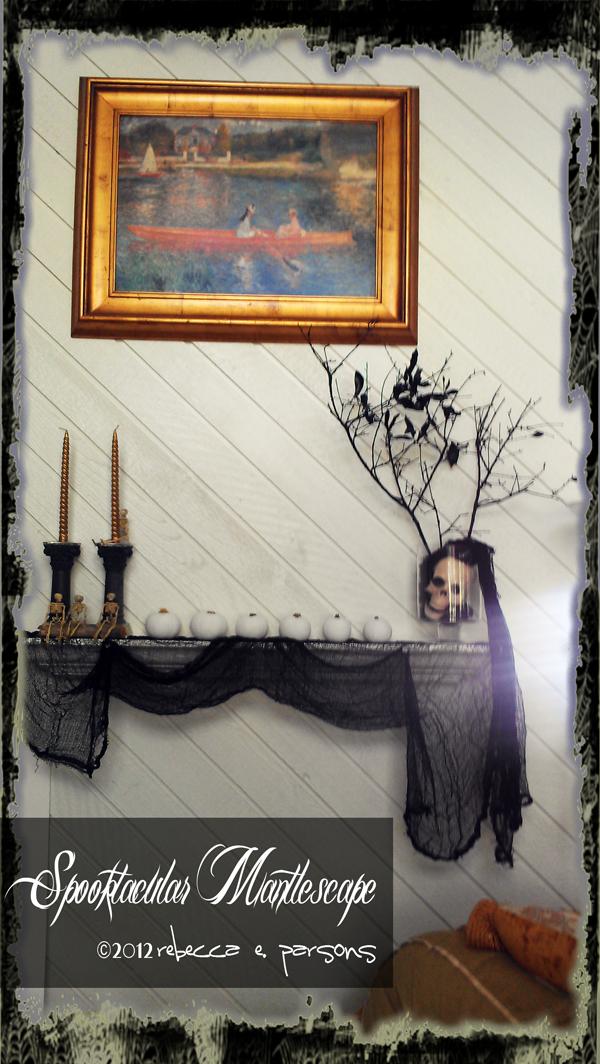 Spooktacular Halloween Mantlescape wall