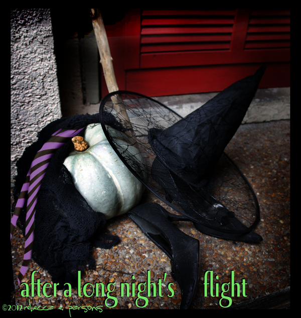 Post image for DIY ~ My New Witch's Shoes Transformation, Halloween Decor Vignette 'The Well Collected Home'