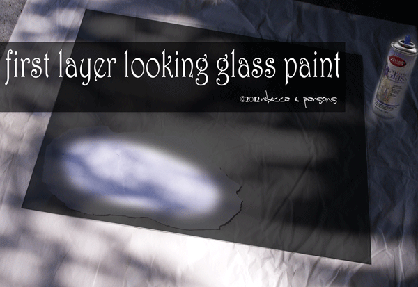 Diy haunted ghostly mirror with krylon looking glass paint for What kind of paint do you use to paint glass