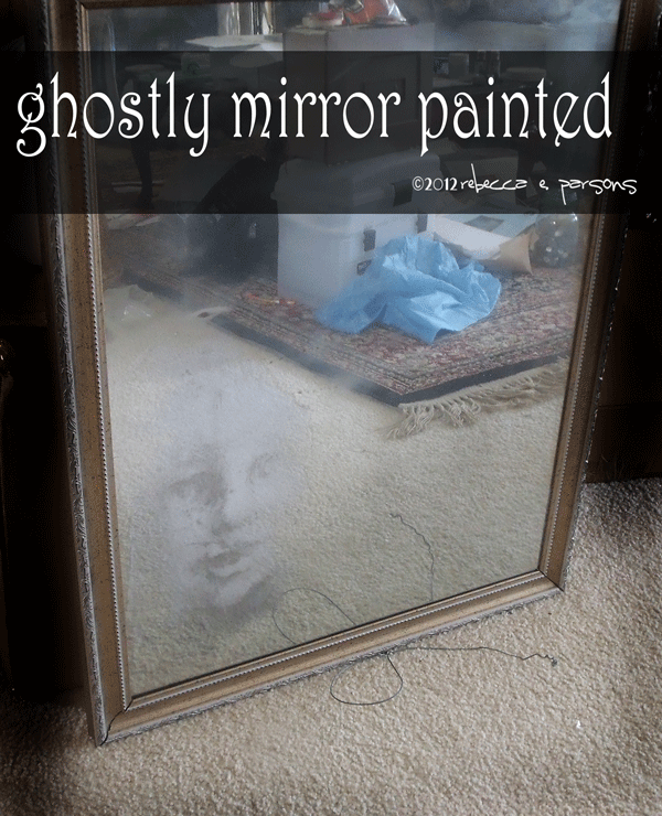 Diy Haunted Ghostly Mirror With Krylon Looking Glass Paint Tutorial