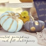 painted pumpkins from Green Wedding Shoes