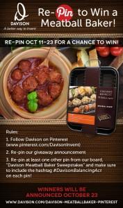 I Love My Meatball Baker, Pinterest Contests and Giveaways #DavisonBalancingAct