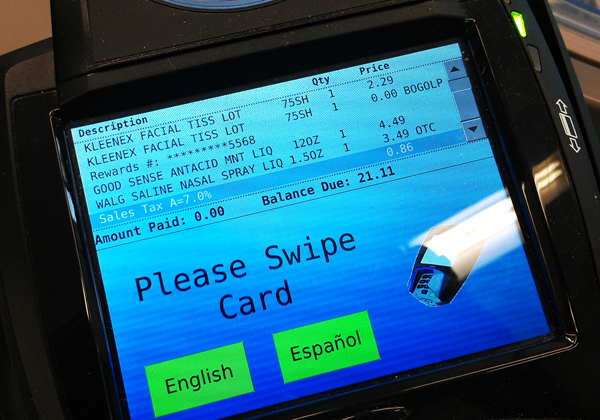 Wallgreens Rewards card at checkout #BalanceRewards