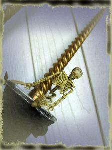 Spooktacular Halloween Mantlescape skeleton on candle