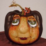 Judy Summers' painted pumpkin from tag yer it