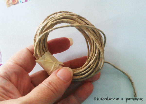 Twine wrapped to insert in handle