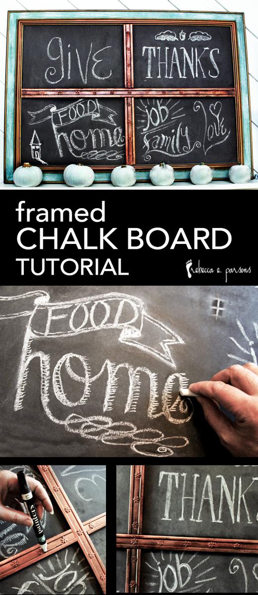 DIY Thanksgiving Chalk Board Tutorial