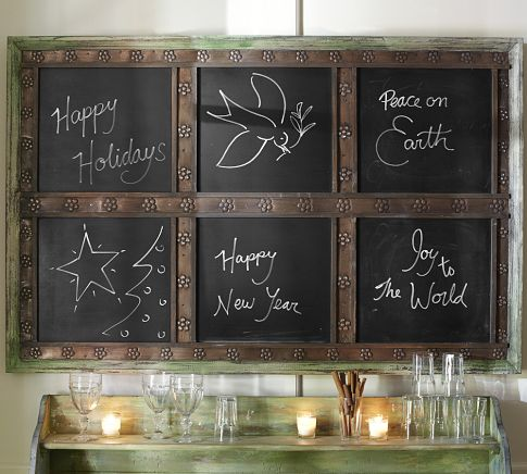 Laidley Wall-Mount Entryway Chalkboard from Pottery Barn