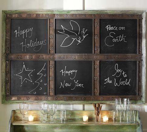 Laidley Wall-Mount Entryway Chalkboard from Pottery Barn DIY Thanksgiving Chalk Board Tutorial
