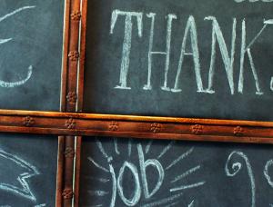 aged trim with black Painters marker #GluenGlitter DIY Thanksgiving Chalk Board Tutorial