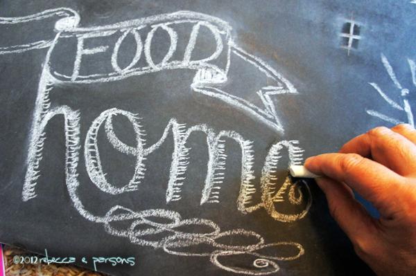 chalk lettering #GluenGlitter DIY Thanksgiving Chalk Board Tutorial