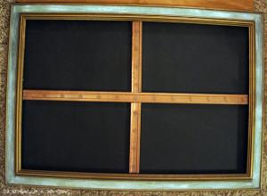 dry fit the trim DIY Thanksgiving Chalk Board Tutorial
