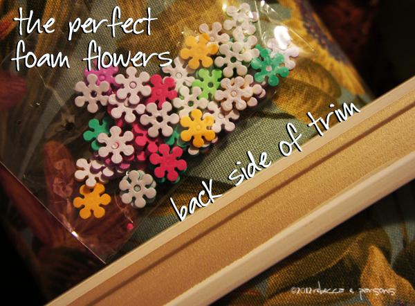 Flowers and trim #GluenGlitter DIY Thanksgiving Chalk Board Tutorial
