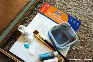 Painting supplies #GluenGlitter DIY Thanksgiving Chalk Board Tutorial