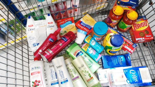 Unilever products in cart