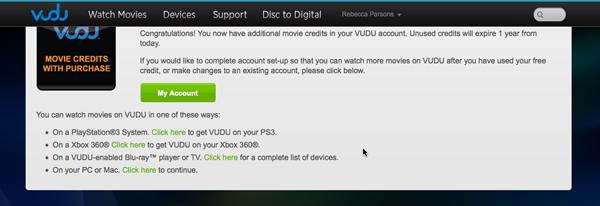 how to cancel vudu account