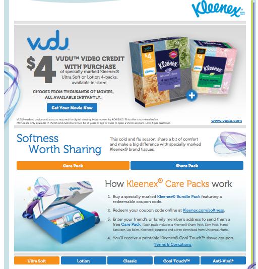 Vudu Walmart Kleenex #SharetheSoft