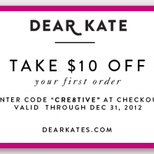 Dear Kate coupon code