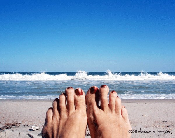 My feet at the beach #HolidayGuide