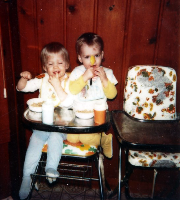 Mike & Matt same highchair