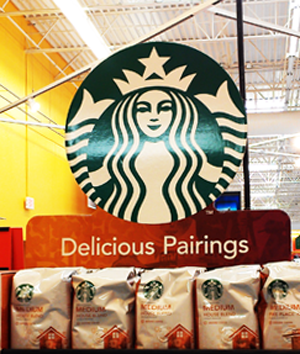 starbucks #DeliciousPairings sign