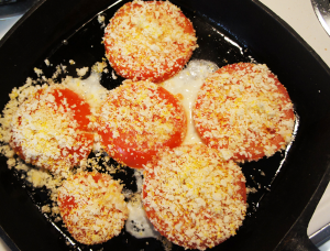 coated tomatoes in skillet #CookClassico