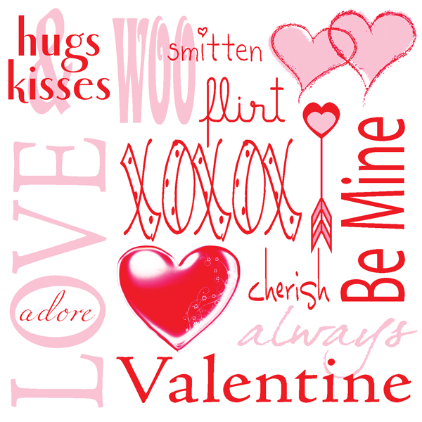 Valentine printable tile by Rebecca E. Parsons