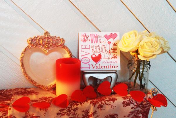 Valentine Mantle Vignette