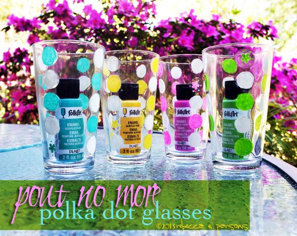 Pout No More Polka Dot Glasses #FAEnamels