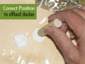 Correct position to load dauber #FAEnamels