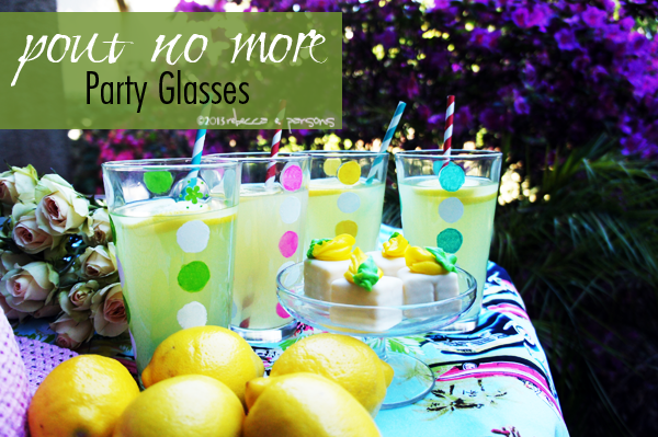 Post image for DIY 'Pout No More' Retro Polka Dot Glassware for Plaid Street Team #FAEnamels