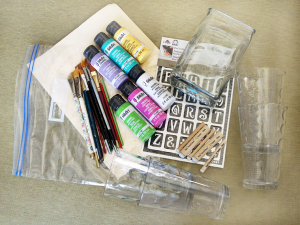 Stenciling on Glass Supplies #FAEnamels