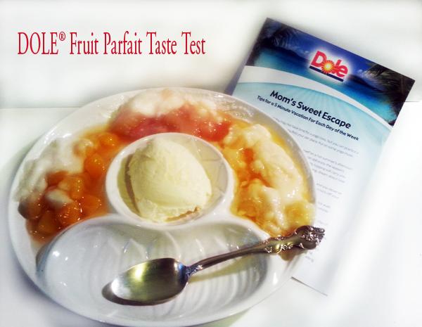 DOLE Fruit Parfait Taste test