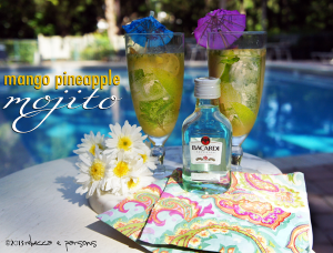 Chillin' by the Pool with a Tall Mango Pineapple Mojito #FreshNFruti