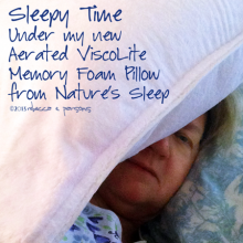 Aerated ViscoLite Memory Foam Pillow from Nature's Sleep #NSAmbassador #spon