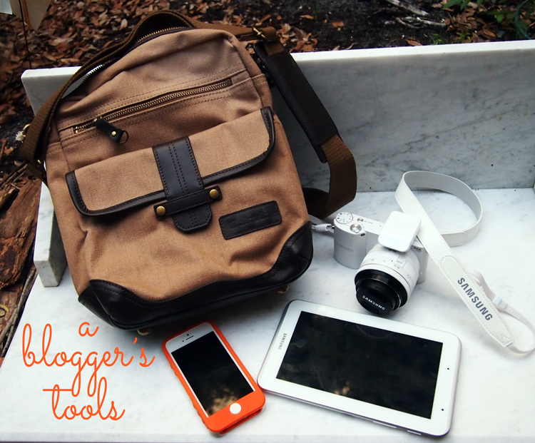 A Blogger's Tools with Rakuda Satchel