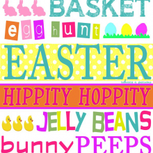 Free Easter Art Printable for Easter DIY Decor {Subway Tile}