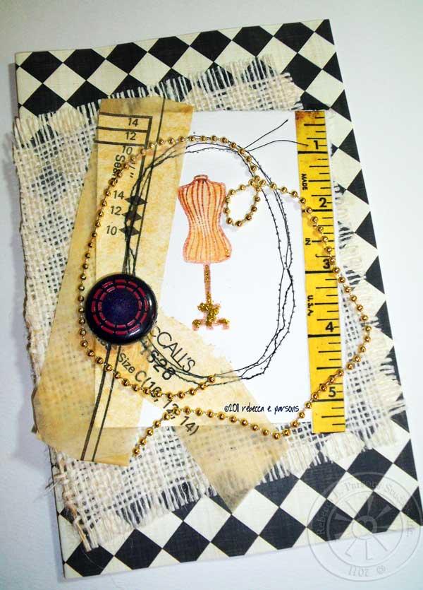 Dressmaker Dressmaker Make Me a Dream...Art Card by Rebecca E. Parsons